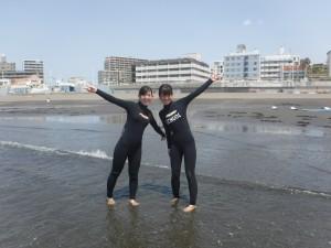 友達の誘いで初サーフィンに来られました。楽しめましたか??