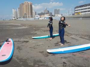 体験の方が来られました♪ 楽しんでサーフィンしてください!