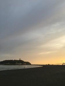 夕日が綺麗ですね♪