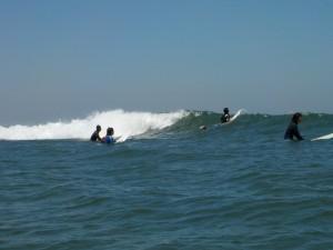 波はセットコシ〜ハラで皆さんいい練習になりましたね。