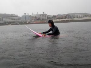 波がなくパドル練習!