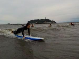 初サーフィン! 乗れるかな?